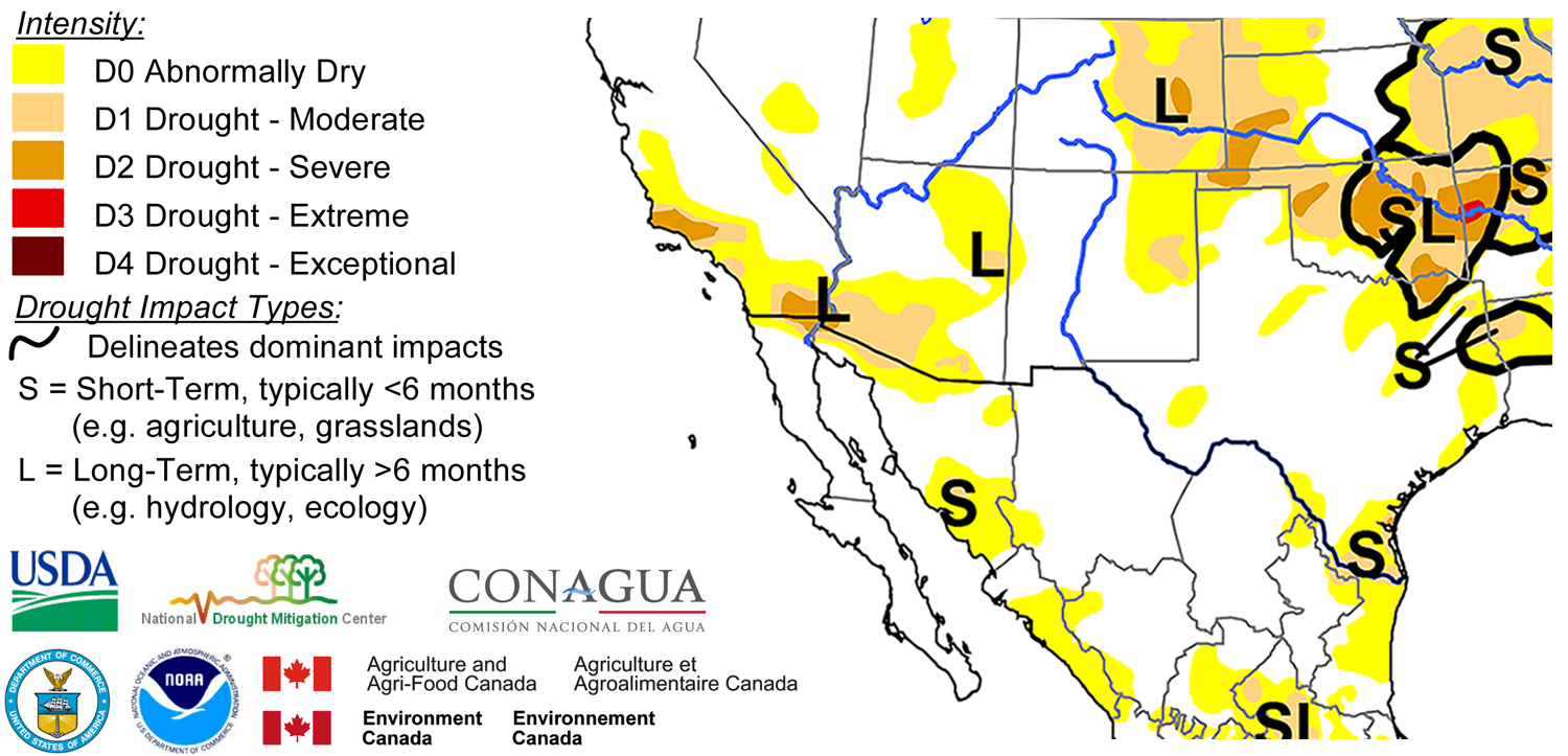 Figure 3 Above North American Drought Monitor Released March 16 2017