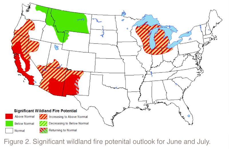 Significant Wildland Fire Potential - June & July