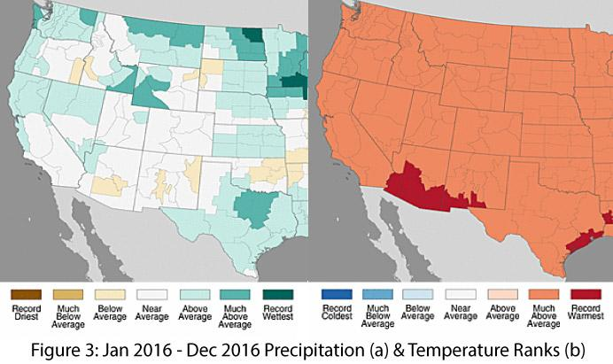 Southwest Climate Outlook January CLIMAS - Mexico climate map