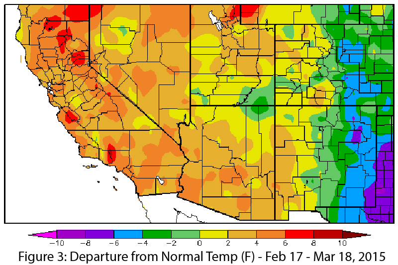 Southwest Climate Outlook March CLIMAS - Average winter temperature in arizona